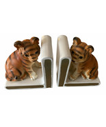 Pair of Vintage Lefton Tiger Cubs Book Ends Ceramic Japan *Rare - $65.06