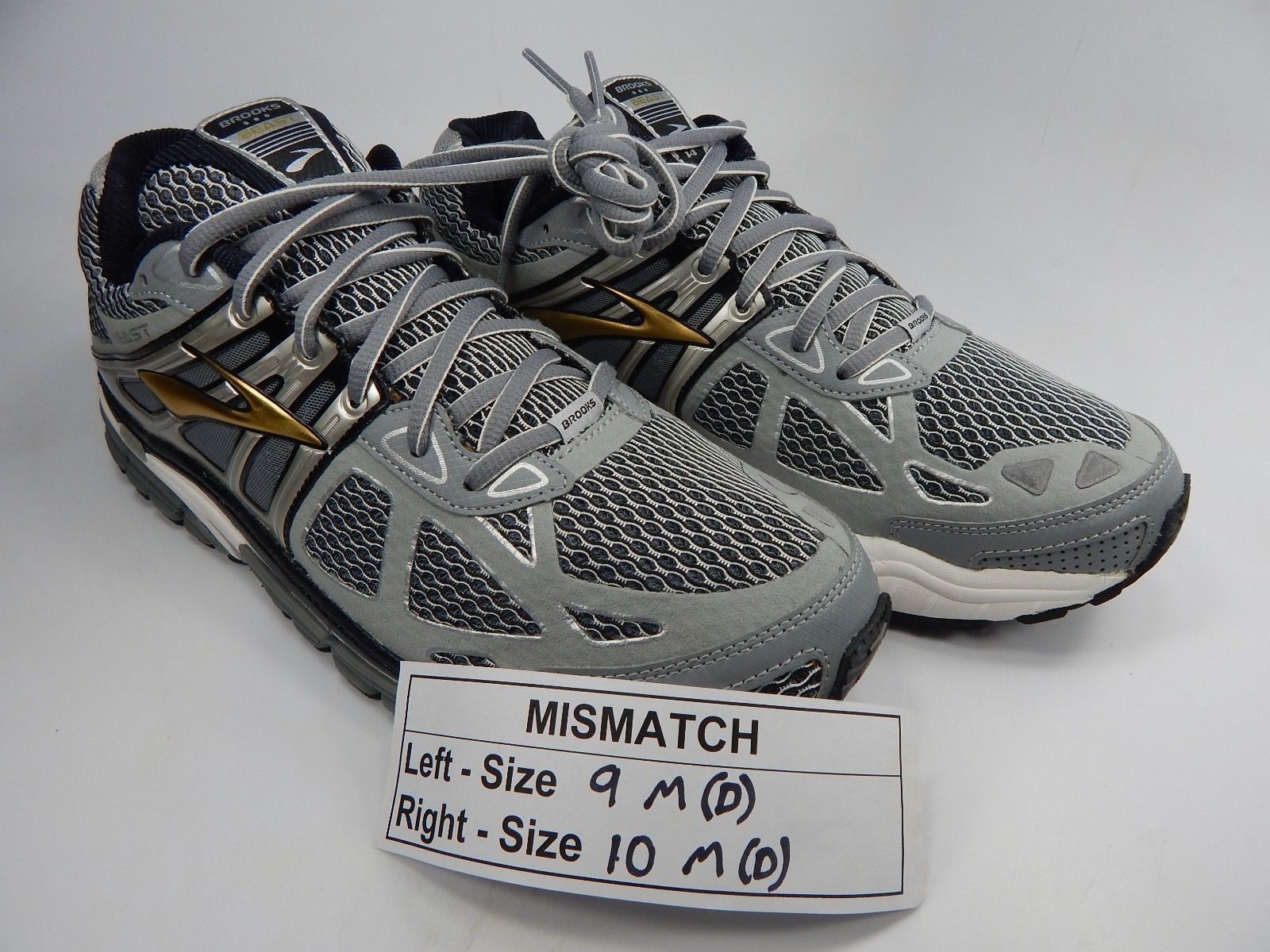 MISMATCH Brooks Beast 14 Men's Shoes Size 9 M (D) Left & 10 M (D) Right
