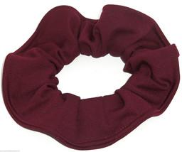 Burgundy Light Knit Fabric Hair Scrunchie Scrunchies by Sherry Handmade USA  - $6.99