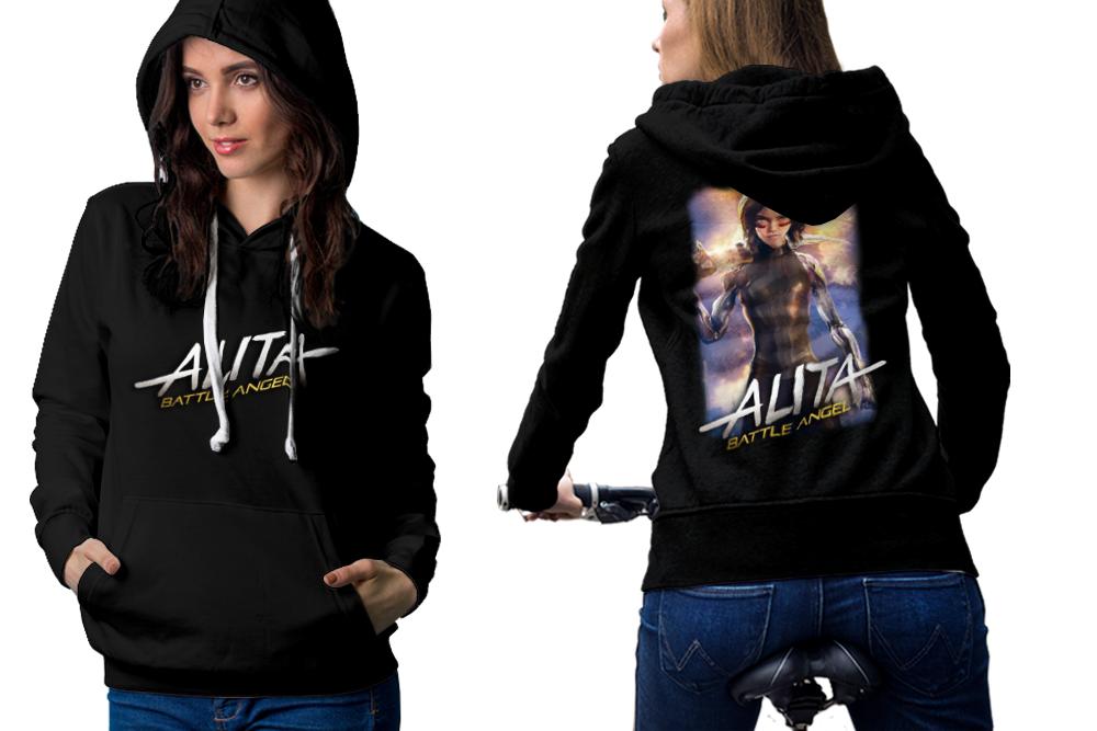 Alita battle angel hoodie classic women black