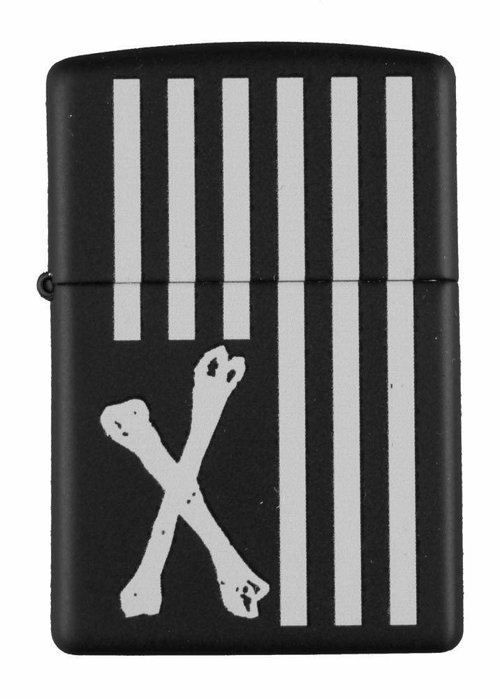 Dissizit! Los Angeles Black Cross Bones American Flag Zippo Lighter 2013 NIB