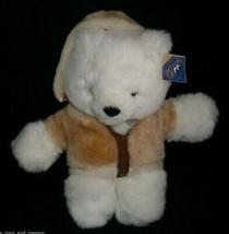 "10"" VINTAGE 1994 THE PETTING ZOO WHITE TEDDY BEAR STUFFED ANIMAL PLUSH T... - $23.38"