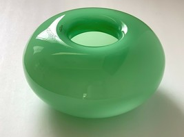 Kosta Boda Anne Nilsson Donut Hand Blown Glass Vase Bowl - $395.01