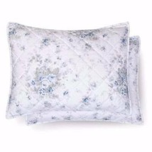 Simply Shabby Chic Quilted Shadow Rose ONE Standard Pillow Sham Blue & White New - $17.81
