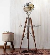Nauticalmart Nickel Finish Silver Metal Floor Tripod Lamp - $195.02