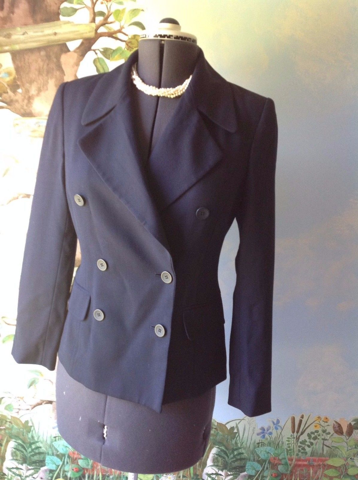 Primary image for M. T. Morgan Taylor Studio  Long Sleeve Blue Wool Suit Jacket Blazer SZ 4