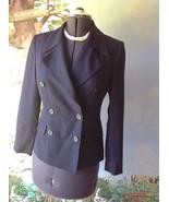 M. T. Morgan Taylor Studio  Long Sleeve Blue Wool Suit Jacket Blazer SZ 4 - $18.81