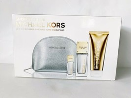 Michael Kors Sporty Citrus Gift Set Jet Set Go Eau De Parfum Body Lotion And Bag - $174.14