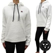 Fila Women's Sherpa Hoodie Sweatshirt White Small Athleisure Polyester NWT - $49.47