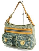 Authentic LOUIS VUITTON Baggy PM Blue Denim Shoulder Tote Bag Purse #34953 image 1