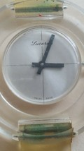 Vintage Lucerne Lucite Ladies Mechanical  Swiss Watch Circa 1970's - $77.22