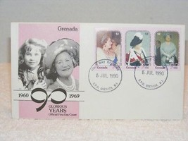 QUEEN ELISABETH 90 GLORIOUS YEARS OFFICIAL FIRST DAY COVER STAMPS W/ENVE... - £3.55 GBP
