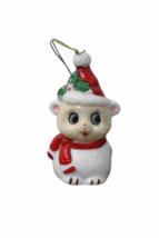 Set of (7) Genuine Bone China Christmas Sheep Figurine Ornament Lot Figure image 2