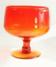 1962 Blenko Amberina Glass Wayne Husted Large Compote - $175.00