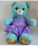 """BUILD A BEAR DISNEY ALADDIN PRINCESS JASMINE PLUSH 17"""" TEAL SPARKLE BEAR... - $21.78"""