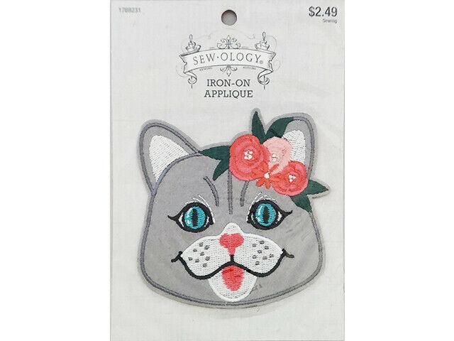 Hobby Lobby Sew-ology Iron-on Applique, Cat Face #1769231