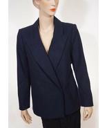 DKNYC Donna Karen Womens Nightfall Navy Wool Delivery Coat Blazer Jacket... - $52.49