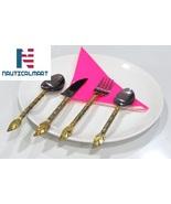 Al-Nurayn Stainless Steel And Brass Spoon Cutlery Set Of 2 By NauticalMart - $69.00