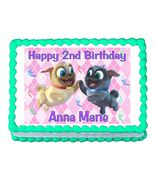 Puppy Dog Pals Pink Edible Cake Image Cake Topper - $8.98+