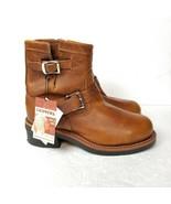 "Chippewa 7"" Original Engineer Work Steel Toe Boots 7E Tan Brown Leather ... - $121.51"