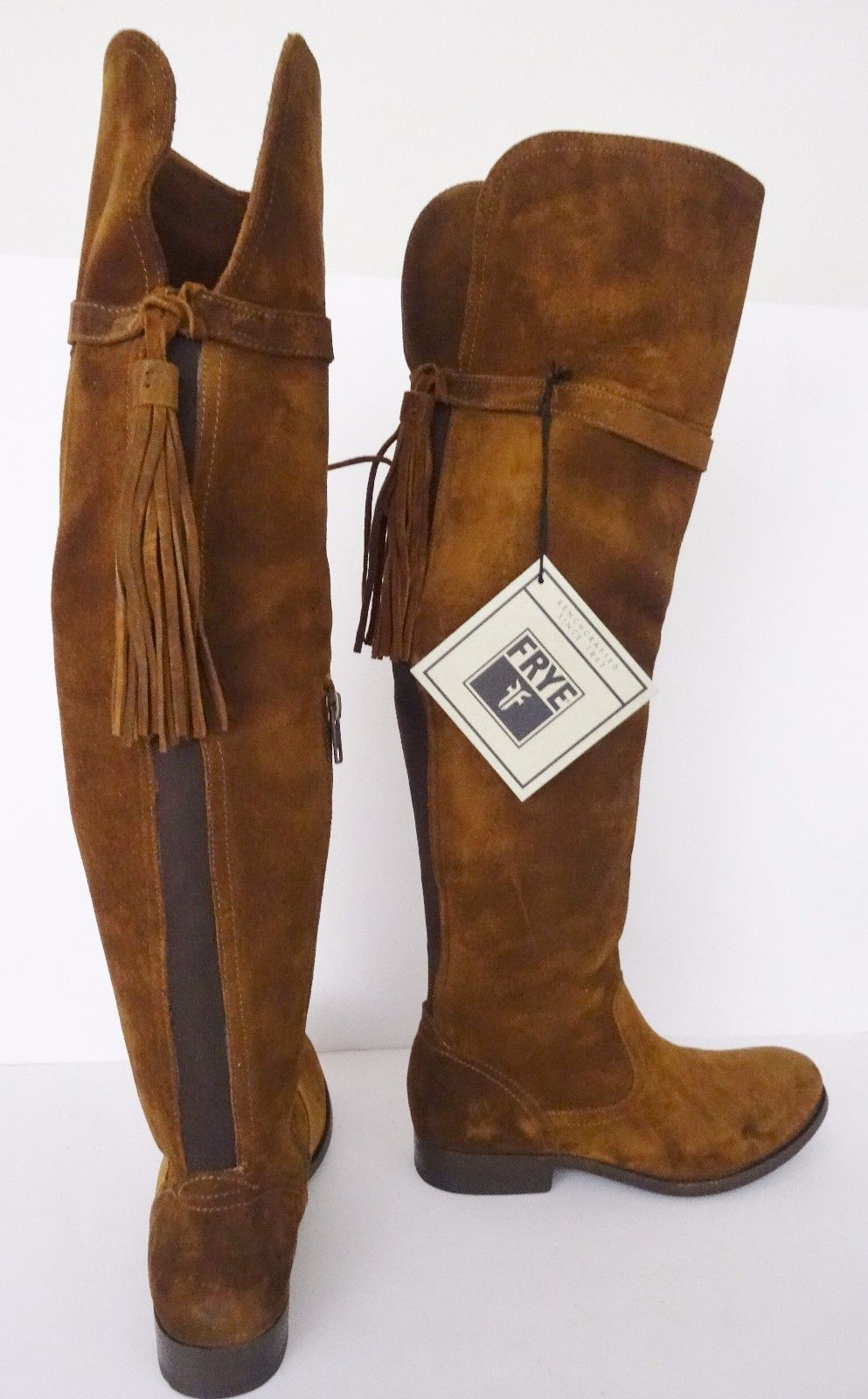 48e0de985a5 NIB Frye Molly Tassel Suede Over the Knee and 50 similar items