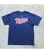 Majestic Minnesota Twins Men's T-Shirt Size XL Blue MLB  - $11.13