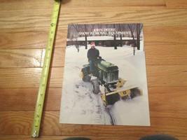 John Deere Snow Removal equipment Vintage Dealer sales brochure - $14.99