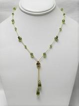 Dabby Reid Heidi Necklace Olivine Crystals 24k-plated Dbl Dangle Y HDN6190G - $26.73