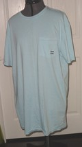 *BILLABONG MEN\S T-SHIRT SIZE S LIGHT BLUE LIGHTWEIGHT 100% COTTON NWT - $14.99