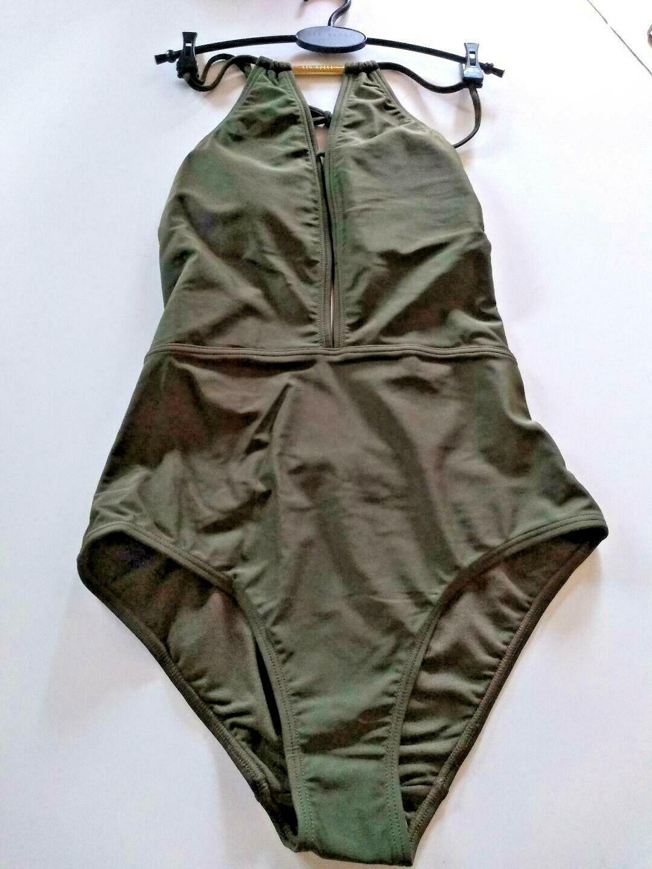 Ted Baker London Halter Khaki SwimSuit Size 1/ XSmall US