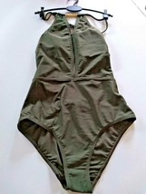 Ted Baker London Halter Khaki SwimSuit Size 1/ XSmall US image 1