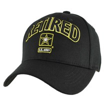 US ARMY RETIRED U.S. Army with Army Star Baseball Cap Hat Officially Lic... - $21.95