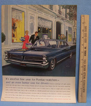 Vintage 1963 Life Magazine Ad for Pontiac Fine for Watchers Better for Drivers - $5.93
