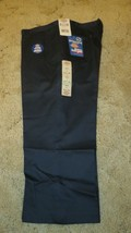 "DICKIES Girls Jr Navy Uniform Capri Sz 19 Boot Cut Waist 39"" x Inseam 22""  - $14.80"