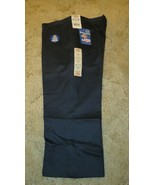 "DICKIES Girls Jr Navy Uniform Capri Sz 19 Boot Cut Waist 39"" x Inseam 22""  - $14.80"