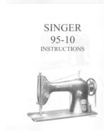 Singer 95-10 Sewing Machine Manual L Vintage  - $14.99