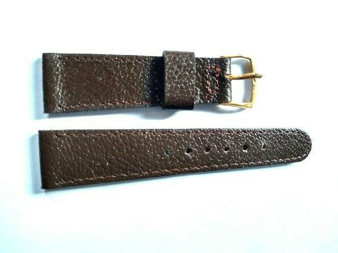 "Primary image for NOS Vintage T&C Town Country Leather Watch Strap Band 11/16"" Brown w/Gold Bukle"