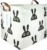 Square Storage Bin for Baby's Room, Rabbit Themed