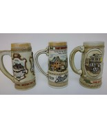 Lot of 3 Vintage Stroh's Beer Steins Heritage Series II & III Ceramarte ... - $69.99