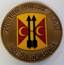 US Army 212th Field Artillery Brigade Fort Sill Oklahoma PRESENTED by CSM Coin - $49.49