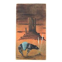 Vintage Sand Painting Harvey Begaye Sand Art Navajo Native American Signed - $38.52