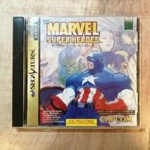 MARVEL SUPER HEROES Capcom Sega Saturn Video Game From japan - $44.55