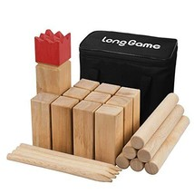 Outdoor Kubb Yard Game for Kids and Adults Hardwood Knot-Free Wooden Fam... - $41.00