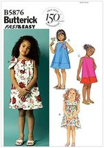 Butterick B5876 Toddlers' / Children's Dress Pattern Size 1-2-3-4 Uncut FF - $9.00