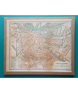 "HOLLAND Amsterdam Town Center - 1905 City Plan 8 x 10""  (20 x 25 cm) - $19.80"