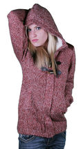 Bench Wolfster Red Knit Zip Up Sweater Hooded Jacket Hoodie image 3