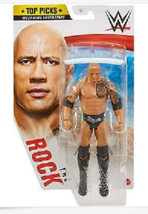 Mattel WWE Top Picks The Rock Figure Wrestling Superstar Brahma Bull  - $40.00