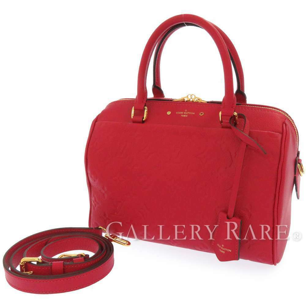 Primary image for LOUIS VUITTON Speedy Bandouliere 25 NM Empreinte Scarlet Bag M44145 Authentic