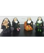 Sister Folk Nun Figurine Set of 4 Abbey Press Maureen Carlson 2007-2009 - $143.99