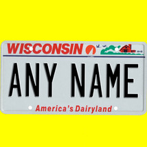 1/43-1/5 scale custom license plate set any brand RC/model car - Wiscons... - $11.00